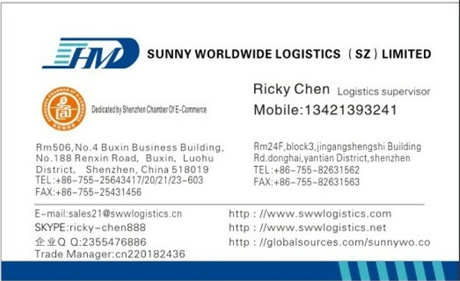 Sunny Worldwide Logistics Shiping by air to usa door to door : I had a quarrel with an American customer