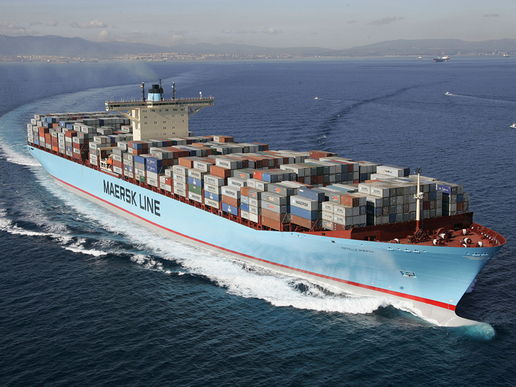 Maersk gallant south round the fire is still in heart, let the whole foreign trade and logistics industry yesterday, another Maersk capacity of 6188 teu container ship