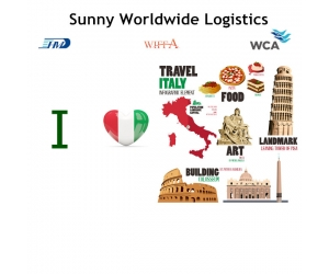 Courier express from China to Italy short time of transportation