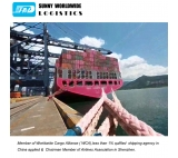 Less than container sea shipping from China to USA from Guangzhou to Miami door to door sea freight services